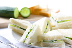 Cucumber sandwiches royalty free stock photos