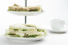 Cucumber Sandwiches Stock Images
