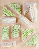 Cucumber sandwiches Royalty Free Stock Images