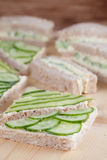 Cucumber sandwiches Royalty Free Stock Photography