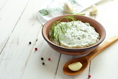 Cucumber sauce with yogurt, garlic, dill tzatziki Stock Image