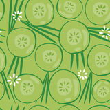 Cucumber Seamless Background Royalty Free Stock Images