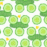 Cucumber seamless  background. Stock Images