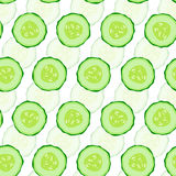 Cucumber seamless  background. Royalty Free Stock Images