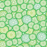 Cucumber seamless funny pattern Royalty Free Stock Image