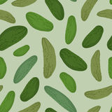 Cucumber seamless pattern. Vector background green vegetable pic Stock Photos