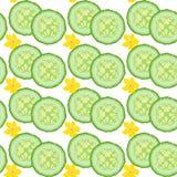 Cucumber seamless Stock Photography
