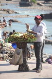 Cucumber Seller. Royalty Free Stock Image