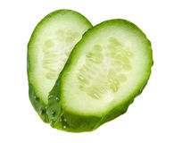 Cucumber slice isolated. With clipping path Stock Photography