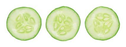 Cucumber slice isolated on white background.  Stock Image