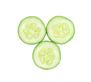 Cucumber slice isolated on white background Stock Photos