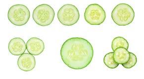 Cucumber slice isolated on white background.  Royalty Free Stock Image