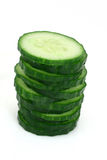 Cucumber slice tower Stock Photography