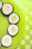 Cucumber sliced Stock Photos