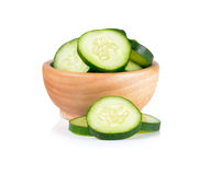 Cucumber sliced isolated over white background Royalty Free Stock Image