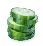 Cucumber sliced isolated on white Royalty Free Stock Images