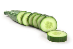 Cucumber sliced Royalty Free Stock Images