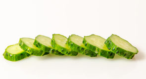 Cucumber sliced Stock Image