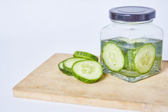 Cucumber sliced on white background Royalty Free Stock Photos