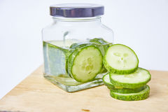Cucumber sliced on white background Stock Photography