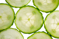 Cucumber slices Stock Image