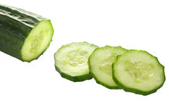 Cucumber slices. Royalty Free Stock Photos