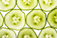 Cucumber slices. Slices of cucumber Stock Image