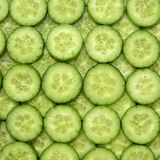 Cucumber slices. Background close-up Royalty Free Stock Photography