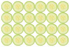 Cucumber slices background. Isolated on white Stock Photo