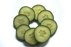 Cucumber Slices Stock Images