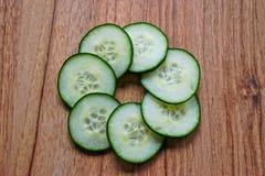 Cucumber Slices Stock Image
