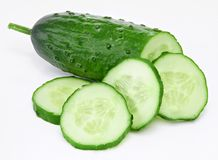 Cucumber and slices stock images