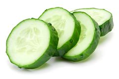 Cucumber and slices stock photos