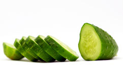 Cucumber. Slices of cucumber (Cucumis sativa Stock Photography