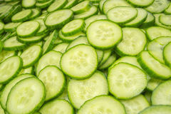 Cucumber slices. Fresh Cucumber and slices white background Stock Image