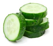 Cucumber and slices royalty free stock images