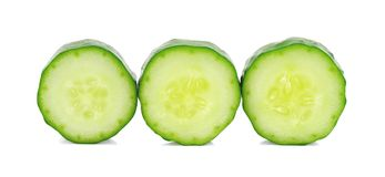 Cucumber and slices  over white background.  Royalty Free Stock Photography