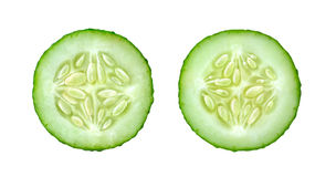 Cucumber slices Royalty Free Stock Photography