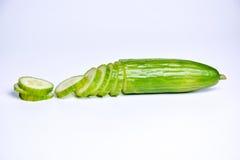 Cucumber slices on white background Royalty Free Stock Image