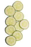 Cucumber slices on white background Royalty Free Stock Photo