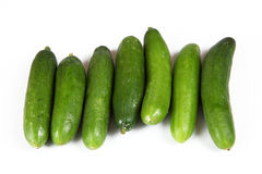Cucumber. Small cucumbers with white background Royalty Free Stock Image