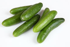 Cucumber. Small cucumbers with white background Stock Image