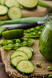 Cucumber smoothie Stock Images