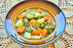 Cucumber soup stock photography