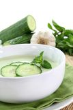 Cucumber soup Royalty Free Stock Photo