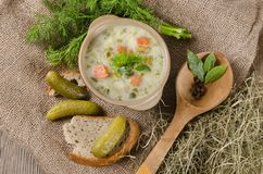 Cucumber soup Royalty Free Stock Image