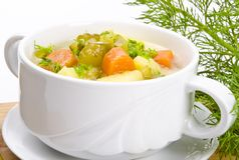 Cucumber soup Stock Photo