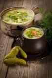 Cucumber soup Royalty Free Stock Images