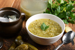 Cucumber soup stock image