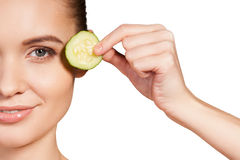 Cucumber spa. Royalty Free Stock Photography